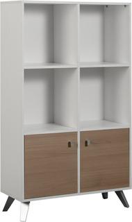 Biblioteca Doble Nordico Escandinavo Le075 Melamina Moderna Minimalista + Envió Sin Cargo Capital Federal