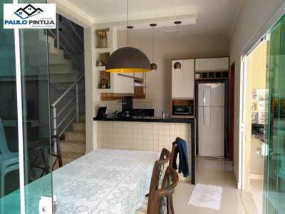 Sobrado Com Móveis Planejados E Spa No Condomínio Park Real - Ca04124 - 34122336