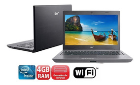 Notebook Intel Atom D525 /hd 320gb/ 4gb Só Na Tomada ****