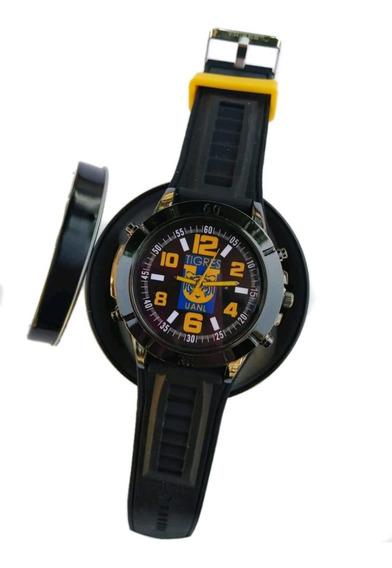 Reloj Oficial Club Tigres Estuche Gratis