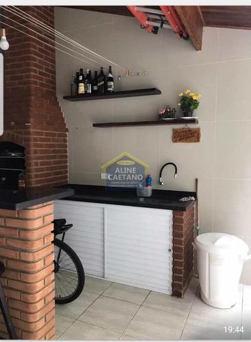Sobrado Com 3 Dorms, Guilhermina, Praia Grande - R$ 620 Mil, Cod: Aci1034 - Vact1034