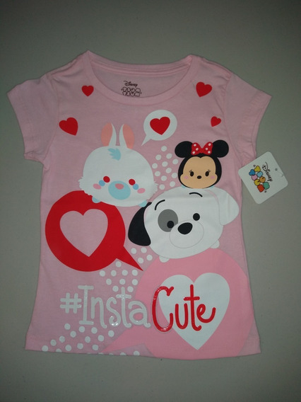 Playera Niña Tsum Disney Minnie Talla 6 Y 8