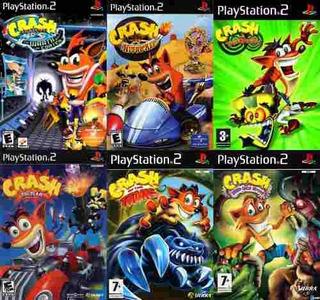Crash Bandicoot Collection Juegos Playstation 2 (6 Discos)