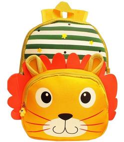 Mochila Infantil Animais Zoo Bebe Kids Bichinhos Criança