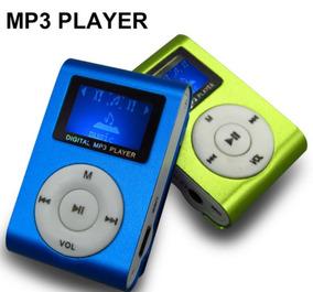 (02) Mini Mp3 Player Clip Com Rádio E F Entrada Para Cartão