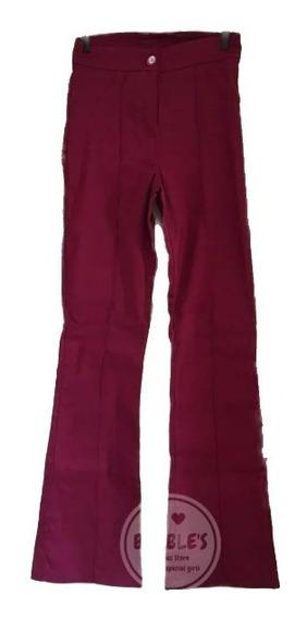 Calça Social Bengaline Flare Costura Perna Do 36 Ao 46