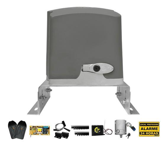 Kit Motor Portão Eletrônico Ppa 1/4 + Trava Suporte Tx Car