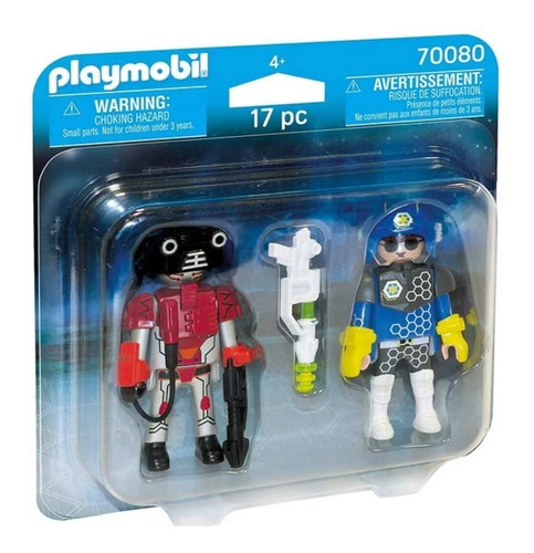 Imagen 1 de 2 de Playmobil Policia Y Ladron Espacio 70080 Muñeco Ink Edu Full