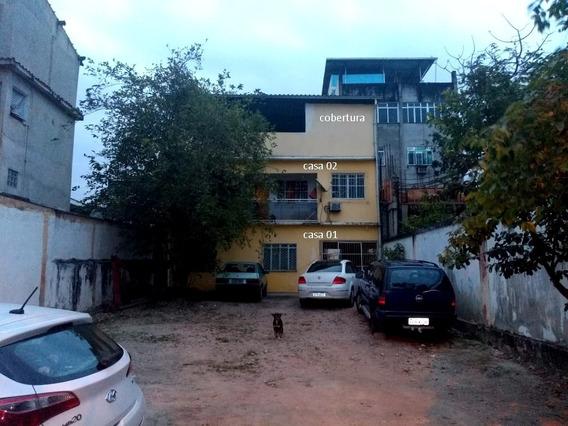 Terreno 10*50 Com 3 Casa + Quintal+ Piscina Perto Do Centro
