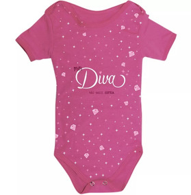 Body Bebe Mini Diva Presente Criativo Infantil Uatt