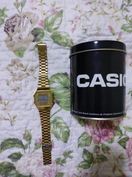 Relogio Casio Dourado Original