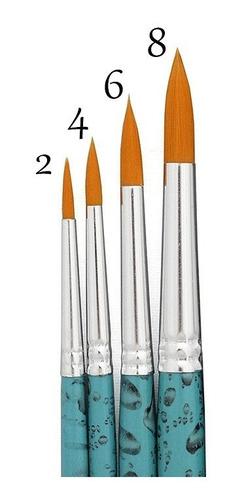 Kit Pincel Redondo Para Aquarela Keramik 311 - 04 Tamanhos