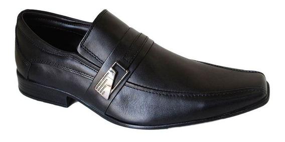 Sapato Perlatto Social Masculino Couro - 7703 Preto