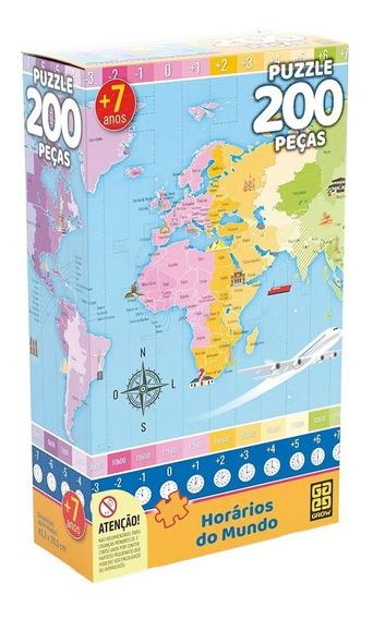Puzzle 200 Peças Horários Do Mundo - Grow