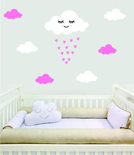 Adesivo Parede Decorativo Bebê Chuva Benção Amor Cute Nuvem