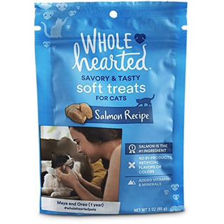 Wholehearted Savory Y Tasty Soft Cat Treats R Salmon Recet