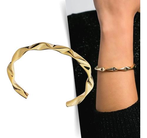 Imagem 1 de 6 de Bracelete Ondas - Dourado