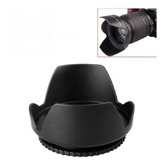 Parasol 58mm Para-sol Para Sol Tulipa Rosqueável Canon Nikon