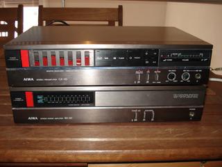 Amplificador Pre Y Potencia Aiwa 110 Exelente Trafo Toroidal