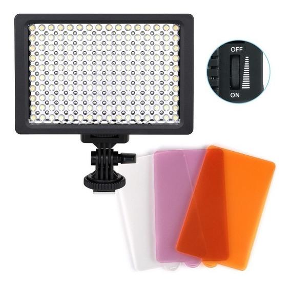 Iluminador Led Pro Hd-160 9.6w Canon Nikon Pentax Dslr