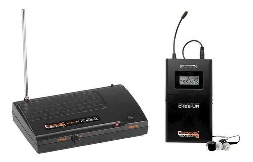 Monitor Tsi Sem Fio Fone C-ie6-u Transmissor E Receptor