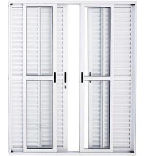Porta Balcão Alumínio Branco 210x200 6folhas C/ Fech. L25