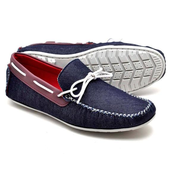 Sapato Mocassim Masculino Em Couro Casual Confort Moderno