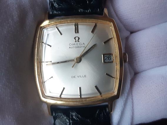 Relógio Omega De Ville Automático Plaquê De Ouro Vintage
