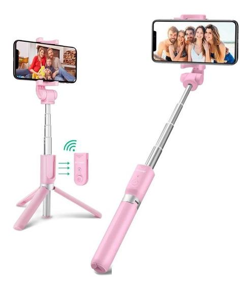 Bastão Tripé Selfie Com Rotação + Controle Bluetooth Premium