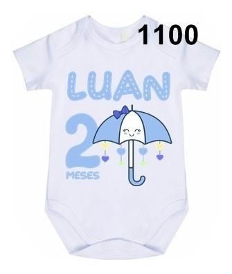 Body Bebê Personalizado Chuva De Amor Aniversário Menino