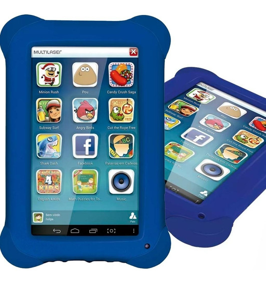 Tablet Multilaser Kid Pad Plus Nb278 Azul 7 Pol Nota Fiscal