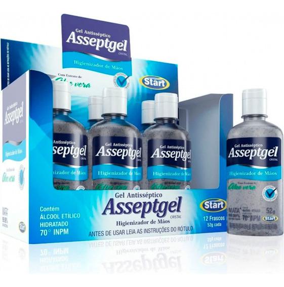 Álcool Em Gel Antisséptico Cristal 52g - Asseptgel