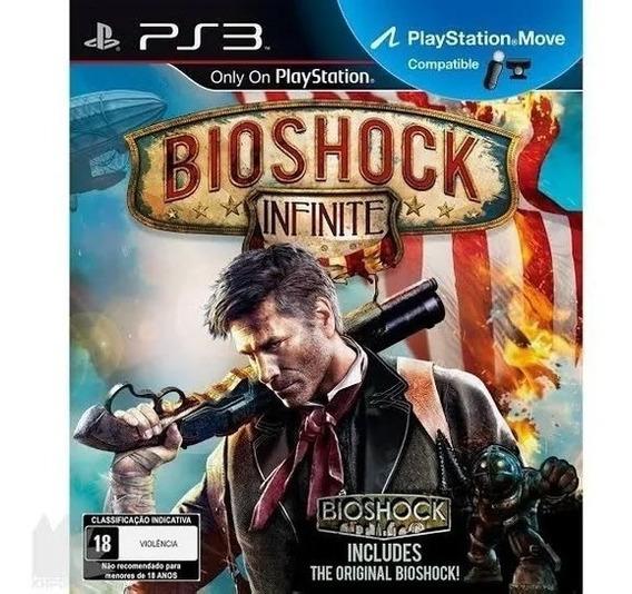 Bioshock Infinite Ps3 Mídia Física Com Uncharted 3 De Brinde