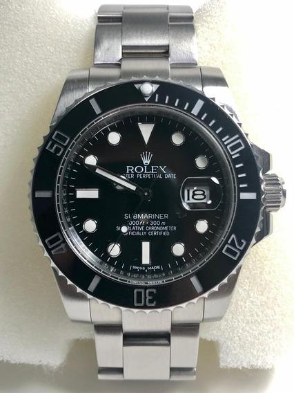 Relógio Rolex Modelo Submariner Preto 116610ln Luxo