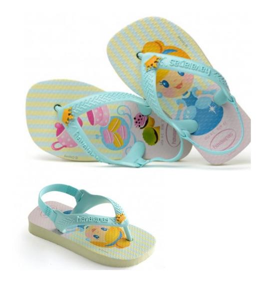 Chinelinho Havaianas Infantil Baby Princesa Nova Coleção