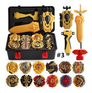 Beyblade Case Kit Launcher + 12pcs Beyblade Burst