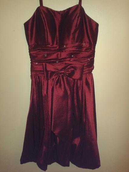 Vestido De Fiesta Para Dama Vino Tinto Talla S