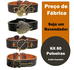 80 Pulseiras Couro Dragon Ball Z Harry Potter Bracelete