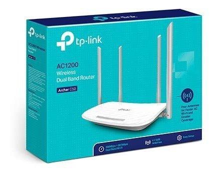 Roteador Wifi 4 Portas Dual Band Ac1200 Archer C50 Tp Link