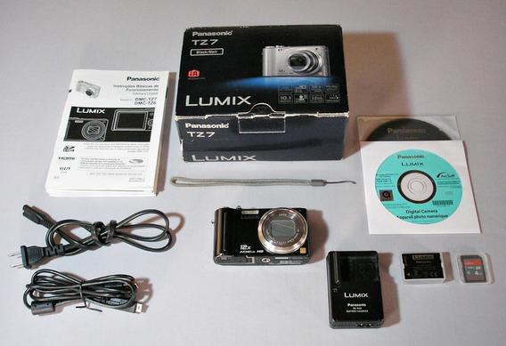 Camera Panasonic Lumix Leica Tz 7 Hd Caixa Varios Acessorios