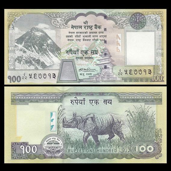 Cédula Estrangeira Nepal Fe. 100 Rupees Rúpias P-64a 2008.