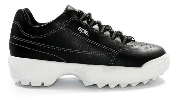 Zapatillas Sneaker A Pie Kate Cuero Eco Acolchada Plataforma