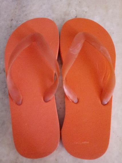 Ojotas Goma 33/34 Color Naranja