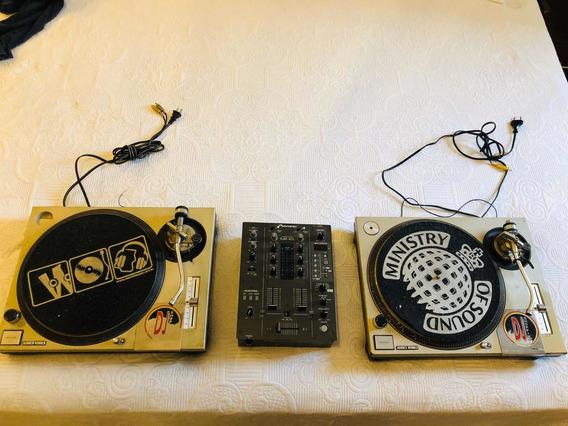 Toca Disco Technics Mk2 + Mixer Djm 400