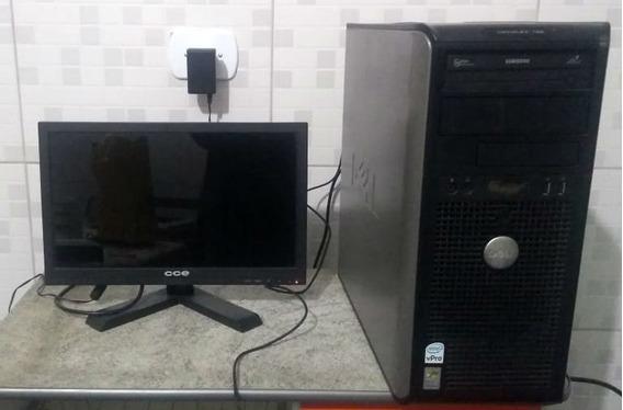 Computador Cpu Dell Optiplex 755 E8400 3gb 320gb Com Monitor