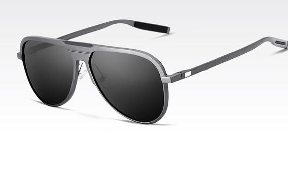 Óculos Masculino Sol Polarizado Escuro Pequeno Estojo