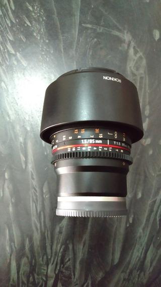 Lente Rokinon 85mm 1.5 Cine Para Sony