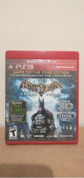 Jogo Batman Arkham Asylum Mídia Física Ps3