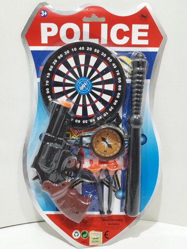 Set Policía Con Garrote