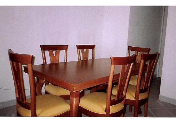 Conjunto Mesa De Jantar Com Seis Cadeiras